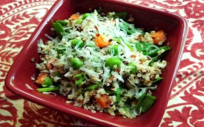 SPRING VEGETABLE AND QUINOA RISOTTO