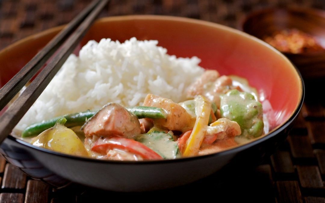 THAI-STYLE RED CURRY WITH SALMON