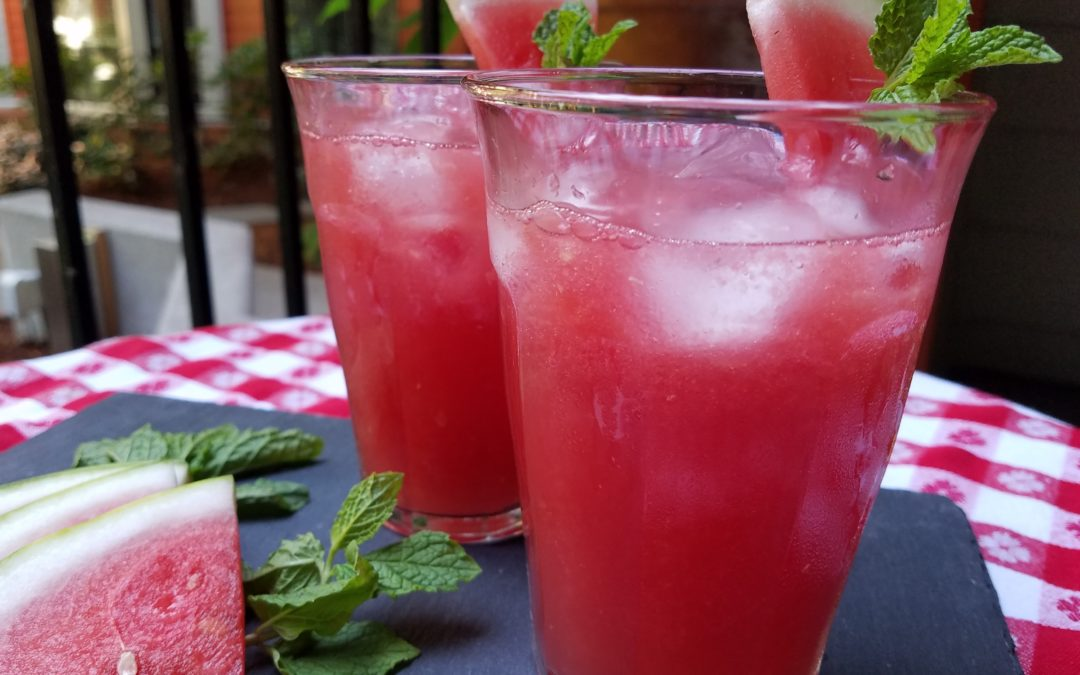 REFRESHING WATERMELON SPRITZER