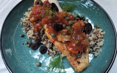 Poached Fish with Tomato and Fennel