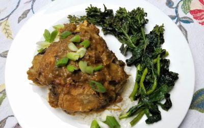 Chicken with Savory Rhubarb Sauce