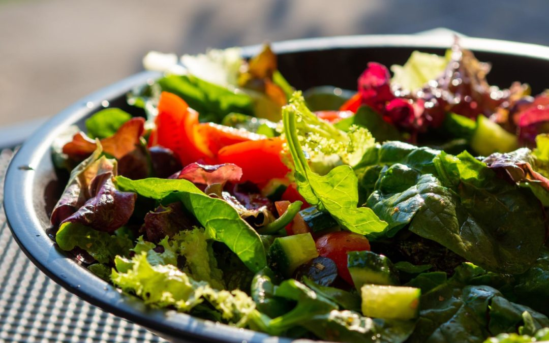 Mediterranean Mixed Greens Salad with Red Wine Vinaigrette