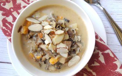 Creamy Wild Rice-Mushroom Soup