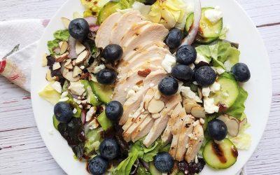 Bibb Lettuce-Blueberry Salad with Blueberry Poppy Seed Vinaigrette